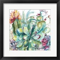 Succulent Garden Watercolor I Fine Art Print