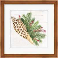 Christmas by the Sea Junonia square Fine Art Print