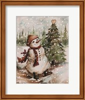 Country Snowman I Fine Art Print