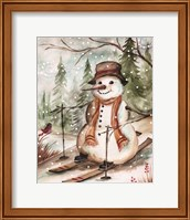 Country Snowman IV Fine Art Print