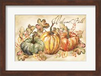 Watercolor Harvest Welcome Fall Fine Art Print