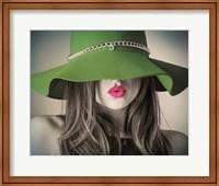 Vintage Fashion - Green Hat Fine Art Print