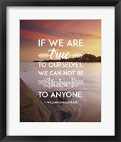 If We Are True To Ourselves - Sea Shore Fine Art Print