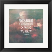 Wisdom is Knowing How Little We Know - Pink Clouds Fine Art Print