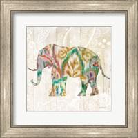 Boho Paisley Elephant II v2 Fine Art Print