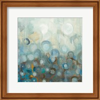 Blue and Bronze Dots VIII Fine Art Print
