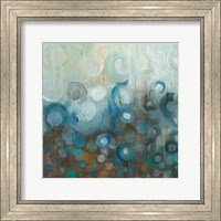 Blue and Bronze Dots VII Fine Art Print