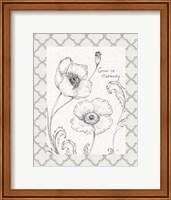 Blossom Sketches Words I Border Fine Art Print