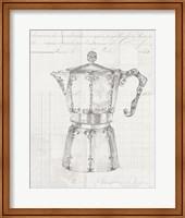 Authentic Coffee III White Gray Fine Art Print