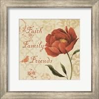 Faith Family Friends Sq Fine Art Print