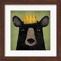 The Black Bear with Crown Fine Art Print