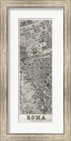 Roma Map Panel in Wood Fine Art Print