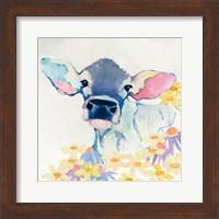 Bessie with Flowers Fine Art Print