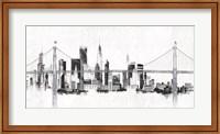 Bridge and Skyline Silver Fine Art Print