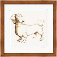 Clio Brown and Orange Fine Art Print