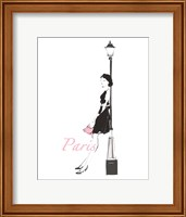 French Chic III Pink on White Fine Art Print