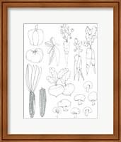 Line Art Veggies Fine Art Print