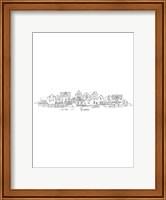 Nordic Village I Vertical Fine Art Print