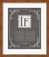 If by Rudyard Kipling - Ornamental Border Gray Fine Art Print