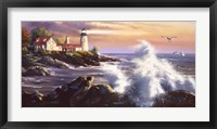 Lighthouse Waves Fine Art Print