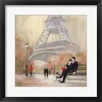 Romantic Paris I Red Jacket Fine Art Print
