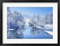 Winter landscape at Loisach, Germany Fine Art Print