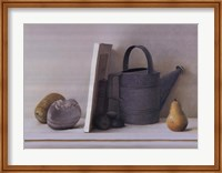 Watering Cans with Pear II Fine Art Print