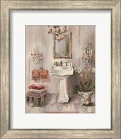 French Bath III Gray and Blush Fine Art Print