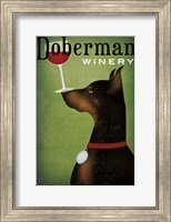 Single Doberman Winery Fine Art Print