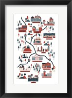The Walking Dead Map Verb Fine Art Print