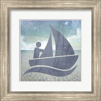 Beach Signs Boating2 V1 Fine Art Print
