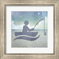 Beach Signs Fishing Fine Art Print