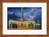Rt 66 Shamrock Texas Conoco Lightning Fine Art Print