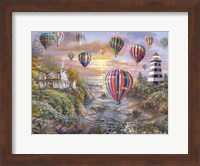 Balloons Over Cottage Cove Fine Art Print