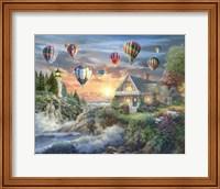 Balloons over Sunset Cove Fine Art Print