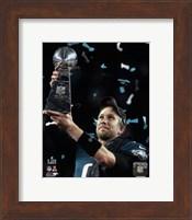 Nick Foles with the Vince Lombardi Trophy Super Bowl LII Fine Art Print