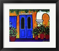 Mexican Blue Door Fine Art Print