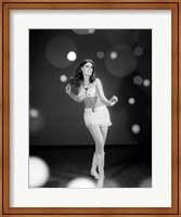 1960s Woman Dancing In White Fine Art Print