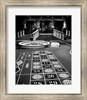 1960s Casino Viewed Of Roulette Table Fine Art Print