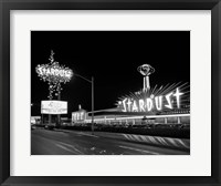 1960s Night Scene Of The Stardust Casino Las Vegas Fine Art Print