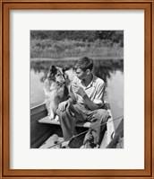 1930s Boy And Collie Dog Fine Art Print