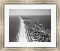 1970s 1980s Aerial Of Jersey Shore Fine Art Print