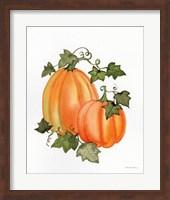 Pumpkin and Vines I Fine Art Print