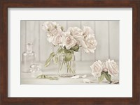 Vintage Roses in Antique Glass Fine Art Print