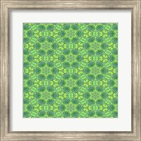 Stained Glass Green Pattern Fine Art Print