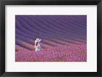 Girl in Lavender Field Fine Art Print