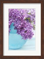 Lilacs in Blue Vase IV Fine Art Print