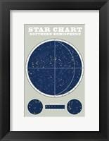 Southern Star Chart Blue Gray Fine Art Print