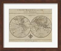 Map of the World Sepia Fine Art Print