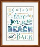 Coastal Words I on Wood Fine Art Print